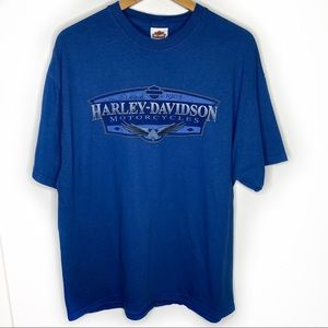 Harley-Davidson blue motorcycle tee shirt XL